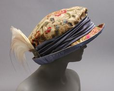 Hat    1910s - a possible shape for this workshop project #millinery #judithm #upcycle