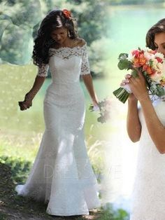 Beautiful Off The Shoulder Lace Wedding Dress
