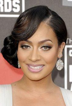 African American Bridesmaid Hairstyles Side Bun African American Hair Wedding Hair Bridal Hair | Wedding
