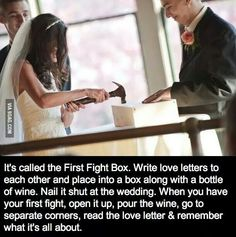 First things first: this had no place in a wedding ceremony. But I think it's a cute idea.