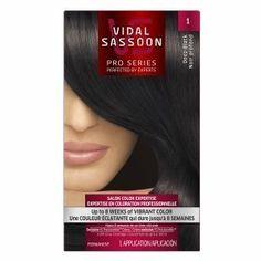 Vidal Sassoon Pro Series Hair Color, 1 Deep Black 1 kit by AB ** Visit the image link more details.