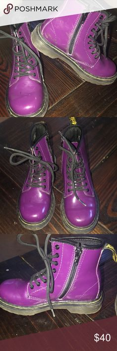 Purple Dr Martens In great condition, a few scuff marks on inside. A great winter boot! Dr. Martens Shoes