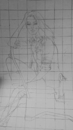 Unfinished magazine drawing: @NegaTeenWarhead