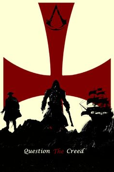 Assassin's Creed Rogue Minimalist Poster by - Yıldız Fırsat Dark Souls, Minimalist Poster, Rogues, Elsword, Assassins Creed Rogue, Templars, Batman Artwork