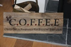 COFFEE Pallet Sign by BDobsonsCraft on Etsy, £20.00
