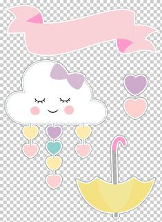 Patricia Selles's media content and analytics Diy Arts And Crafts, Crafts For Kids, Diy Crafts, Cloud Party, Love Png, Rainbow Theme, Unicorn Party, Baby Decor, Cute Wallpapers