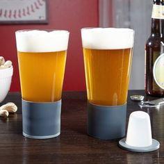 Self-chilling beer glasses.