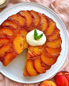 Peach Upside Down Cake recipes recipeoftheday easy eat recipe eat food fashion diy decor dresses drinks breakfast toast vegan vegetarian Delicious Desserts, Dessert Recipes, Yummy Food, Peach Cake Recipes, Cupcake Recipes, Peach Upside Down Cake, Cupcake Cakes, Cupcakes, Fruit In Season