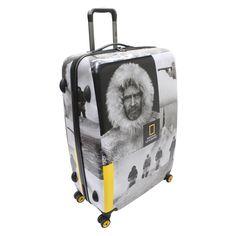 Großer #Koffer National Geographic Robert E. Peary bei Koffermarkt: ✓Motiv mit legendärem Polarforscher ✓4 Rollen ✓78x52x29 cm ⇒Jetzt kaufen