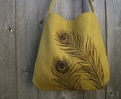 Hand Sewn from Linen and Hand Printed! Lovely (c) Uzura