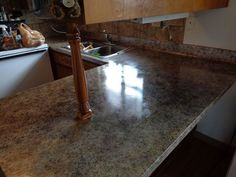 diy painted counter tops, countertops, Finished counters