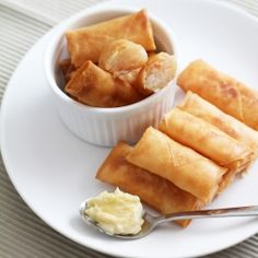 Simple spring rolls with shrimp and a touch of sesame oil. Best served with mayo or sweet and sour sauce. #foodgawker
