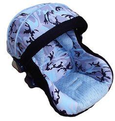 blue camo decor baby ritzy rider blue camo infant car seat cover ics7595 itzy ritzy. Black Bedroom Furniture Sets. Home Design Ideas