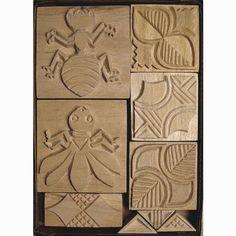 Oshiwa Carved Wood Printing Stamp Set Bugs Ant Bee Item by Oshiwa, $112.00