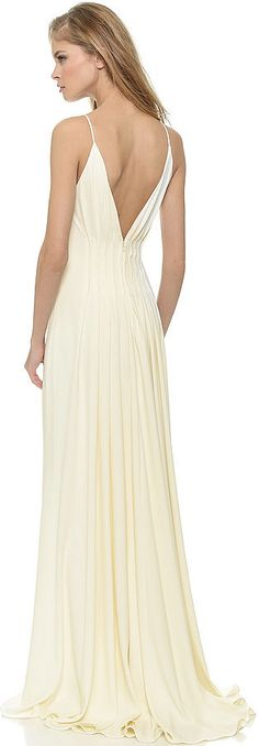 Perfectly Pleated. Badgley Mischka Collection Open Back Gown ($695)