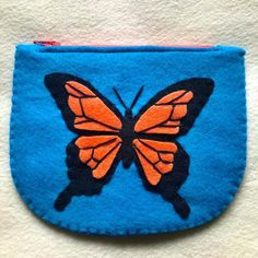 Excited to share this item from my #etsy shop: Butterfly pouch, small pouch, coin pouch, coin purse, card wallet, small butterfly wallet, felt wallet Felt Wallet, Card Wallet, Felt Animal Patterns, Stuffed Animal Patterns, Kids Christmas Ornaments, Felt Ornaments, Butterfly Felt, Red Tigers Eye, Busy Book