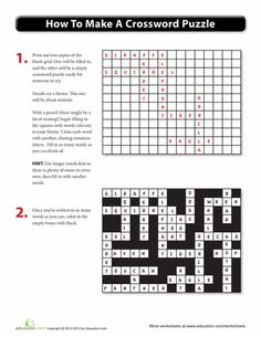 Crossword puzzle maker great for vocabulary this site also has make your own crossword puzzle malvernweather Gallery