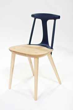 Dipped wooden chair