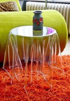 Invisible side table for a superhero room!!! How cool would that be?