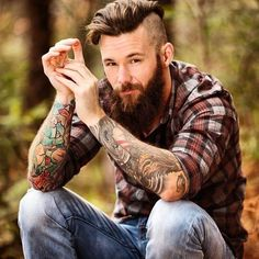Get a sexy beard with Beard and Company's all-natural beard care products. Made in Colorado. Scruffy Men, Hairy Men, Bearded Men, Moustache, Beard No Mustache, Beard Boy, Sexy Beard, Hipsters, Lumberjack Men