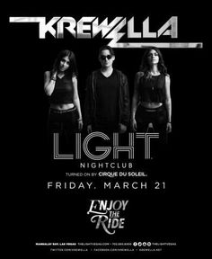 Krewella at LIGHT Las Vegas Nightclub Friday March 21st. 702.741.CITY(2489) CITY VIP CONCIERGE for Tables, Bottles, Tickets, VIP Services and the very BEST of Any & Everything Fabulous in Las Vegas!!! #TheLIGHTNightclubLasVegas #CityVIPConcierge CLICK HERE FOR TICKETS