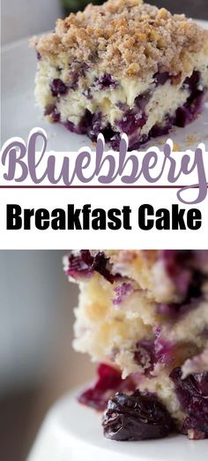 Blueberry breakfast cake, coffee cake, whatever you want to call it, it's overflowing with blueberries and absolutely delicious blueberrycake blueberrycoffeecake blueberrybuckle blueberrydessert is - Brunch Recipes, Snack Recipes, Dessert Recipes, Easy Recipes, Summer Recipes, Cooking Recipes, Healthy Recipes, Blueberry Cake, Blueberry Delight