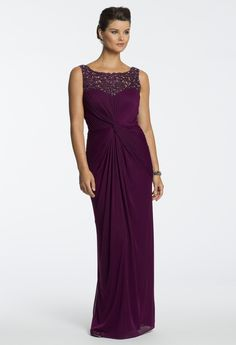 Matte Jersey Embroidered Long Dress from Camille La Vie and Group USA x