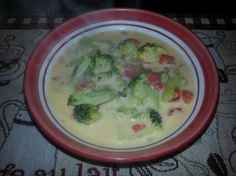 Weight Watchers Broccoli Cheese Soup - 2 Pts Per Cup. - suggestions to make it better from reviews include adding red pepper flakes and pureeing some of the broccoli and adding corn starch to thicken it a bit.  overall, almost 5 star rating - pts may be old points and not points+