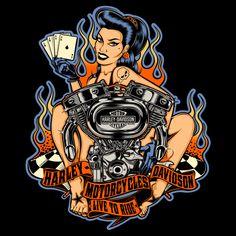 Harley-Davidson & Motorcycles on Behance Harley Davidson Posters, Harley Davidson Trike, Bagger Motorcycle, Motorcycle Design, Motorcycle Tips, Women Motorcycle Quotes, Triumph Motorcycles, Custom Motorcycles, Custom Bikes