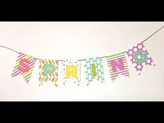 Video Tutorial: DIY Spring Banner