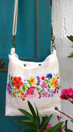 Your place to buy and sell all things handmade Embroidery Bags, Vintage Embroidery, Vintage Linen, Upcycled Vintage, Vintage Jewelry Crafts, Hungarian Embroidery, Embroidered Quilts, Linen Bag, Cotton Crochet