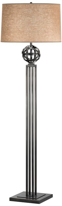 Robert Abbey Lucy Bronze 3-Way Floor Lamp | LampsPlus.com