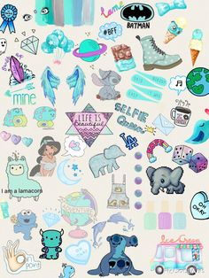 Cute, blue and wallpaper Cute Wallpaper For Phone, Cute Girl Wallpaper, Cute Wallpaper Backgrounds, Cute Cartoon Wallpapers, Aesthetic Iphone Wallpaper, Disney Wallpaper, Stickers Cool, Tumblr Stickers, Phone Stickers
