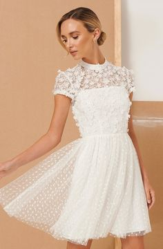 Summer Dresses, Formal Dresses, Wedding Dresses, Lace Design, Mini, Outfit, Wedding Planning, Short Sleeves, Flower Girl Dresses