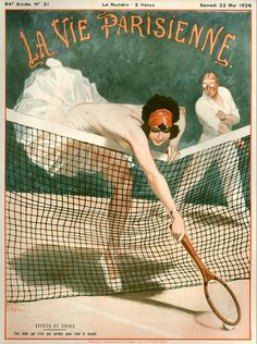 30 Tennis-Themed Magazine Covers Throughout History: La Vie Parisienne, May 22, 1926
