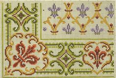 Dmc Cross Stitch, Cross Stitch Borders, Cross Stitch Flowers, Cross Stitch Designs, Cross Stitching, Needlepoint Patterns, Cross Patterns, Counted Cross Stitch Patterns, Embroidery Sampler