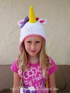 Appetizer for a Crafty Mind: Rainbow Crochet Unicorn Hat