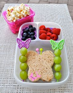 Bentoriffic plant based vegan butterfly bento with Lunch Punch in @EasyLunchboxes
