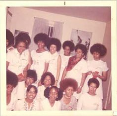 Carnegie Mellon University's Chapter of Delta Sigma Theta Sorority, Incorporated. The women in white, are the first line of Pyramids from Theta Beta Chapter of Delta Sigma Theta Sorority from Carnegie Mellon University. February 1972