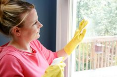 Window washing solution - 2 cups of water, 1/4 cup of white distilled vinegar, and up to 1/2 teaspoon of liquid soap or detergent in a spray bottle