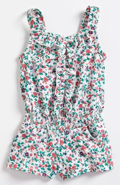 United Colors of Benetton Kids Floral Coveralls (Infant) available at #Nordstrom