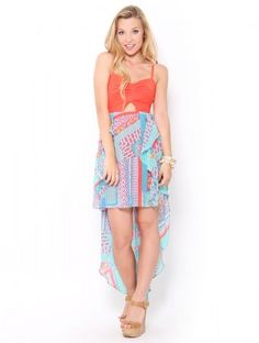 Cut-Out High-Low #Dress
