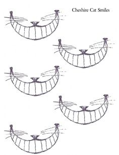 cheshire cat smile templates - Google Search