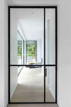 Contacteer onsvoor een afspraak Hallway Inspiration, Interior Design Inspiration, Door Design, House Design, Steel Doors And Windows, Interior Windows, House Doors, Iron Doors, Entrance Doors