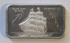 1797 Old Ironside Ship Silver Investing, Silver Bullion, Silver Bars, Coins, Ship, Ebay, Vintage, Art, Art Background