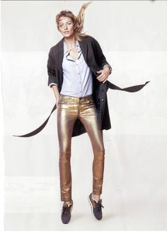 Esprit, gold trousers
