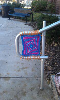 Great idea for a yarnbomb!