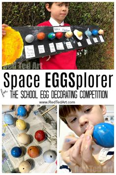 Try this to win the School Egg Decorating Competition. Last year's winning Egg Decorating Competition Entry: Space EGGsplorers, our Space Puns and Solar System Eggs secured a prize victory! Tying in nicely with the curriculum too! Projects For Kids, Crafts For Kids, School Projects, School Ideas, Fair Projects, Easter Egg Competition Ideas, Preschool Transportation Crafts, Solar System Projects, Valentines Day For Him