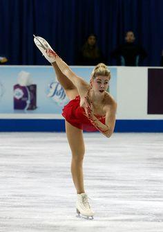 (new sleeves) Gracie Gold of the U.S.-- ladies free skate Skate America ISU Grand Prix on October 24, 2015 in Milwaukee — Selections from The Firebird by Igor Stravinsky