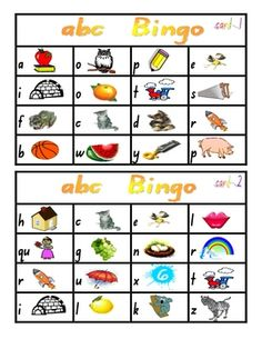 nitial Sounds Bingo Games - PDF file    5 page resource.    8 playing cards and one call card.    Pictures and lower-case letter in each box, including call card.    Great for the classroom and literacy rotations. $